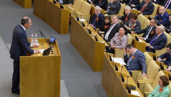 Пленарное заседание Госдумы РФ.