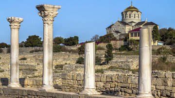 Руины древнегреческого города Херсонес в Крыму