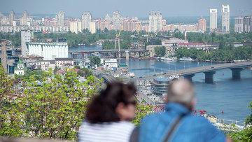 Панорама Киева из парка Владимирская горка. Архивное фото