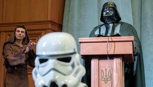 Кандидат в президенты от Интернет партии Украины Дарт Вейдер