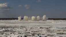 Ледоход-2014 на Томи: утренние взрывы и первые подтопления