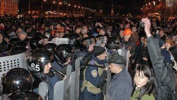 Милиция блокирует митингующих в Харькове