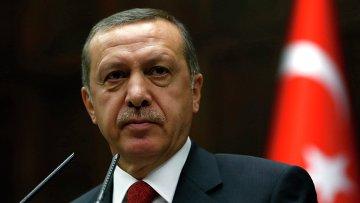 Премьер-министр Турции Тайип Эрдоган на заседании парламента в Анкаре. Архивное фото