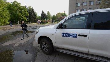 Автомобиль миссии Организации по безопасности и сотрудничеству в Европе (ОБСЕ). Архивное фото
