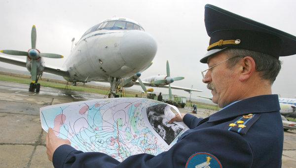 Самолет ВВС РФ со спецтехникой для разгона облаков. Архивное фото
