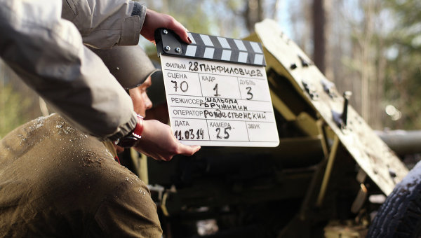 Съемки фильма 28 панфиловцев. Архивное фото
