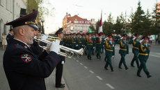 Репетиция Парада Победы в Томске, событийное фото