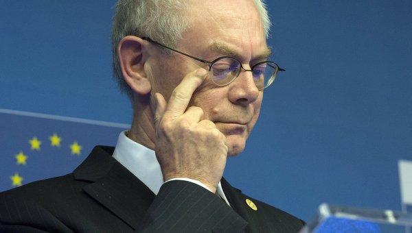 Председатель Европейского Совета Херман Ван Ромпей, архивное фото