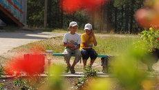 Дети в оздоровительном лагере, архивное фото