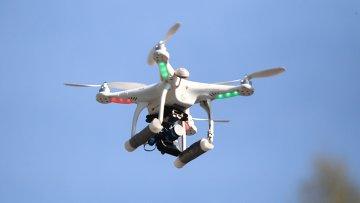 Беспилотный летающий аппарат. Архивное фото