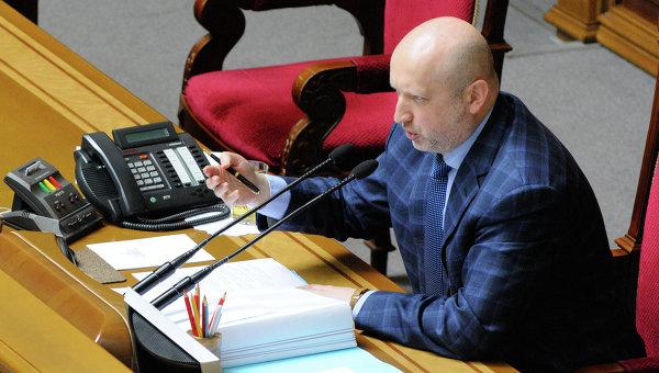Председатель Верховной Рады Украины Александр Турчинов. Архивное фото