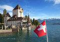 Флаг Швейцарии в Оберхофене