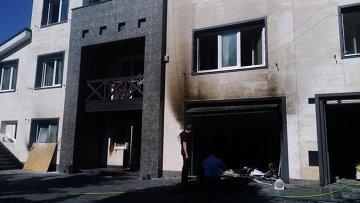 Неизвестные сожгли дом Олега Царева в Днепропетровске