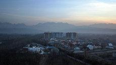 Вид на город Бишкек, Кыргызстан. Архивное фото