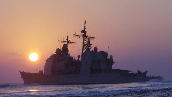 Американский ракетный крейсер Vella Gulf. Архивное фото