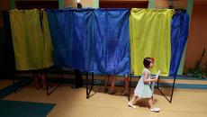 Избирательный участок во время выборов президента Украины