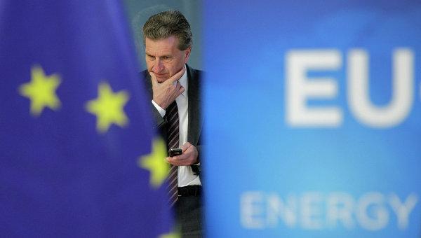 Еврокомиссар по энергетике Гюнтер Эттингер, архивное фото.