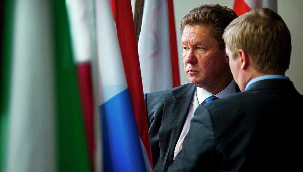 Глава Газпрома Алексей Миллер во время газовых переговоров России, Украины и ЕС в Берлине