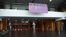 В международном аэропорту Донецка. Архивное фото
