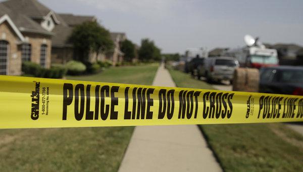 Место преступления в США. архивное фото