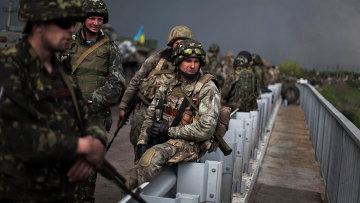 Украинские солдаты. Архивное фото