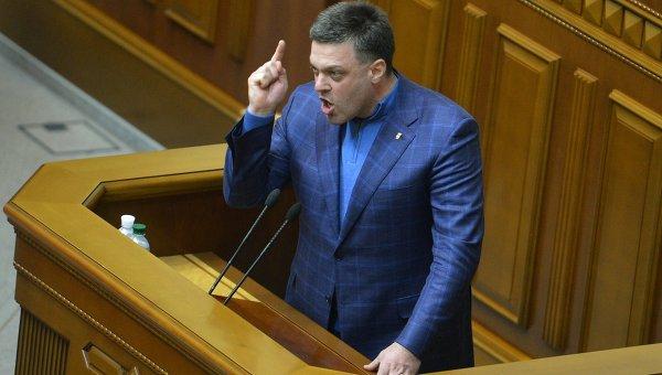 Олег Тягнибок на заседании Верховной Рады Украины. Архивное фото