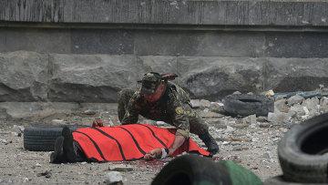 При авианалете ВВС Украины на обладминистрацию Луганска погибли пять человек