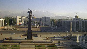 Вид на площадь Ала-Тоо в Бишкеке