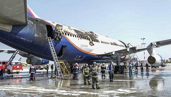 Пожар на Ил-96 в московском аэропорту Шереметьево потушен