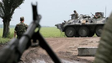 Солдаты украинской армии возле Славянска, Архивное фото