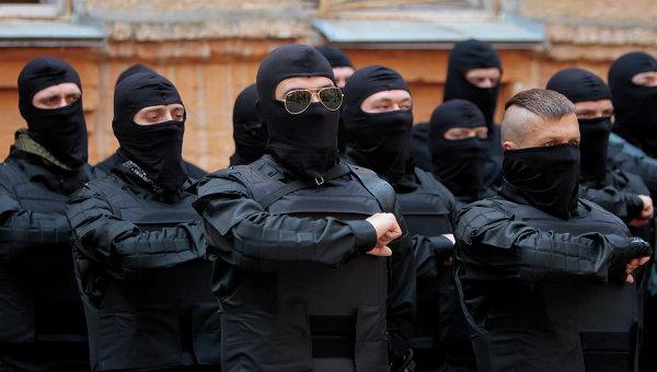 Члены Правого сектора. Архивное фото