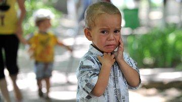 Украинские беженцы в оздоровительном центре Дмитриадовский в Ростовской области