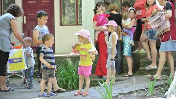 Украинские беженцы в Ростовской области. Архивное фото
