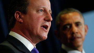 Дэвид Кэмерон и Барак Обама. Архивное фото