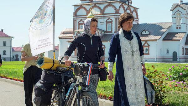 Открытие велопробега Святая Русь в Ростове
