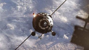 Грузовик Прогресс во время стыковки к МКС. Архивное фото