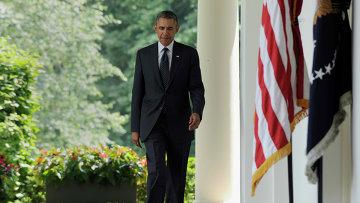 Президент США Барак Обама в Розовом саду Белого дома. Архивное фото.