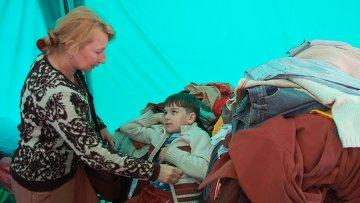 Украинские беженцы в Белгороде. Архивное фото