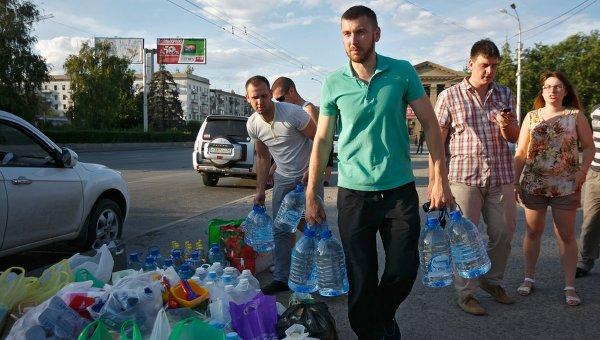 Беженцы из Украины на турбазе Волжская в Волгоградской области