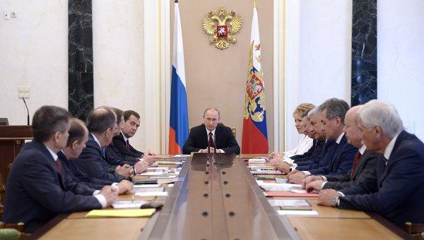 Президент России Владимир Путин провел заседание Совбеза РФ