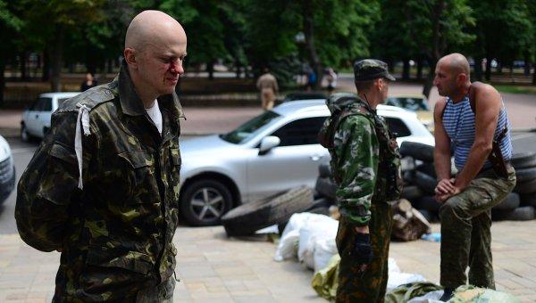 Пленный военнослужащий украинской армии в Луганске