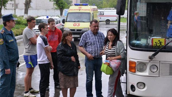 Автобус с беженцами из Луганской области. Архивное фото
