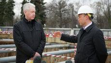 Осмотр работ по строительству станции метро «Петровский парк»