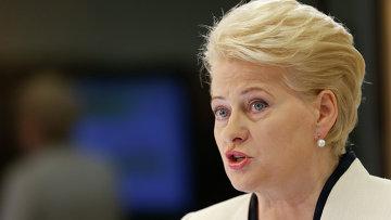 Президент Литвы Дали Грибаускайте. Архивное фото