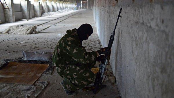 Боец батальона Призрак народного ополчения Луганска. Архивное фото