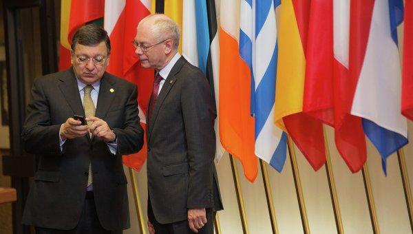 Херман ван Ромпей, Жозе Мануэл Баррозу в Брюсселе 27 июня 2014