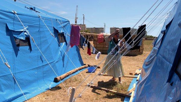 Палаточный лагерь в Севастополе для беженцев из Донбасса