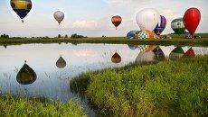Воздушные шары на Международном фестивале воздухоплавания Небесная ярмарка. Архивное фото
