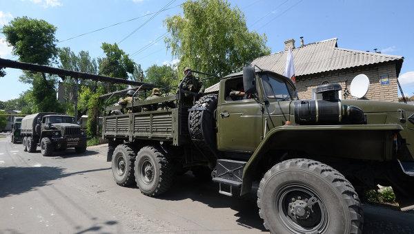 Обострение ситуации в Донецкой области. Архивное фото.