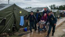 Беженцы из Украины в лагере в Ростовской области